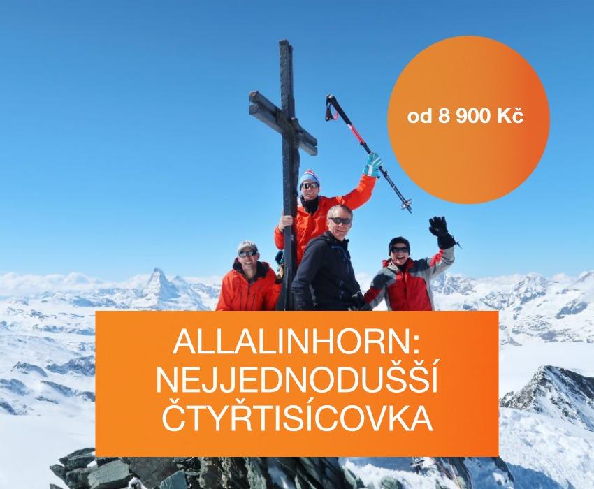 Výstup na Allalinhorn, nejjedodušší čtyřtisícovku